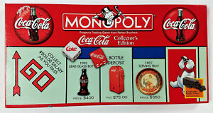 Coca-Cola Monopoly Board Game Collectors Edition by Parker Brothers -1999 NM