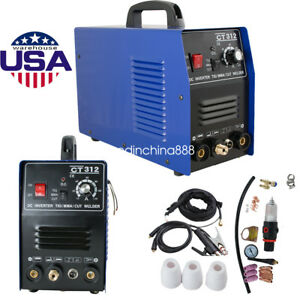 3 In 1 Tig Mma Air Plasma Cutter Welder Welding Torch Machine Ct312 By Fedex