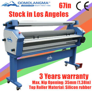 Us Stock 67in 1700mm Heat Assisted Full auto Cold Laminator Laminating Machine