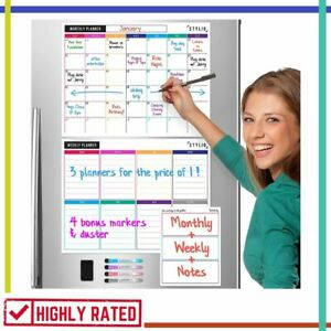 Dry Erase Calendar Whiteboard Magnetic Calendars For Refrigerator Notepad Stylio