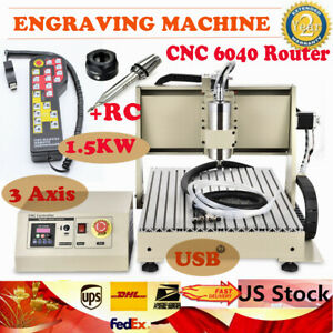 Usb 3 Axis 6040 Router Engraver Engraving Pcb Wood Milling Machine W Controller