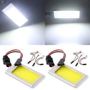 2pcs 12v 24v T10 Ba9s Festoon Dome Cob 36smd Led Car Interior Truck Panel Lights