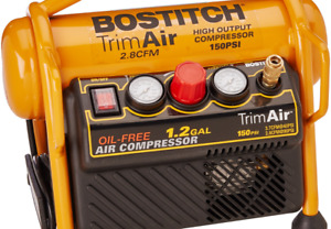 Bostitch Air Compressor For Trim Oil free High output 1 2 Gallon 120 Psi