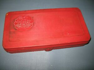 Snap on Blue Point Taps Adjustable Dies 1 Double Hex In Red Plastic Case