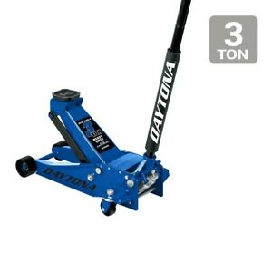 Floor Jack 3 Ton Professional Rapid Pump Blue
