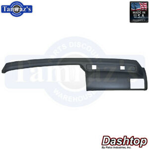 89 93 Thunderbird Cougar Dash Board Pad Cap Cover Black Without Tissue Dispenser