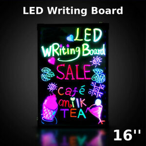 Flashing Illuminated Erasable Neon Led Message Menu Sign Writing Board Wf