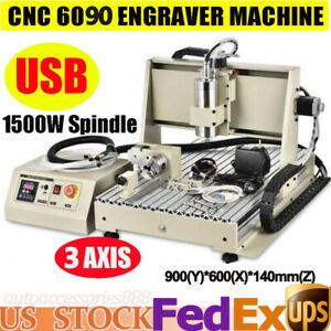 1 5kw 3axis 6090 Cnc Router Engraver Woodworking Advertising Milling Machine Usb