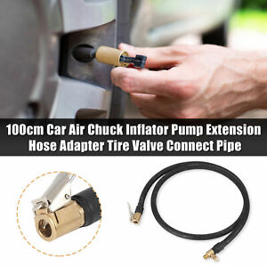 100cm Car Air Chuck Inflator Pump Extension Hose Adapter Tire Valve Connect Pipe