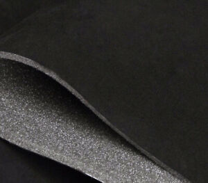 Black Suede Foam Backed Headliner Fabric For Car Interior Roof Lining 108 x60