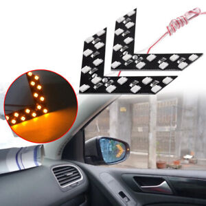 2x Car Side Rear View Mirror 14 Smd Led Lamp Turn Signal Light Accessories Kit