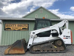 2013 Bobcat T770 Track Skid Steer Loader Enclosed Heat Ac Low Cost Shipping