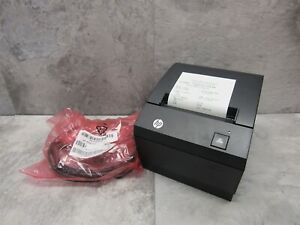 New Hp A799 c80w hn00 Pos Direct Thermal Receipt Printer W 6 Powered Usb Cable