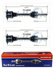 Pair Of Front Cv Axle Shafts For Toyota T100 1993 1998 4wd Surtrack Set
