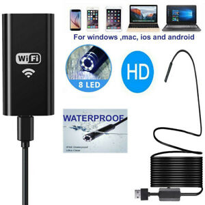 10m 5mp Wifi Borescope Endoscope Snake Inspection Camera For Iphone Android Ios