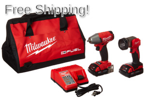 Milwaukee Electric Tools 2895 22ct M18 Fuel 3 8 Impact Wrench W Led Light Kit