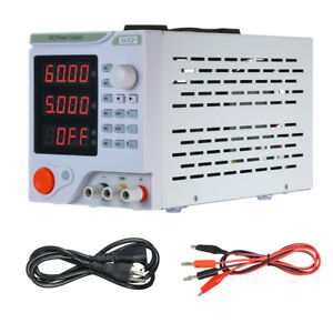 4 Digits Led Programmable Dc Power Supply Variable Adjustable 0 60v 0 5a Us New