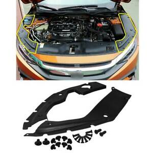 For 2016 2019 18 Honda Civic 10th Gen Engine Bay Side Panel Covers Long Version