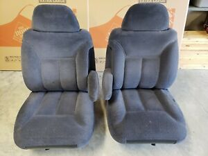 95 98 Chevy Gmc Truck 95 2000 Suburban Tahoe Yukon Blue Bucket Seats Manual 88