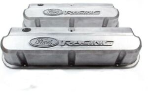 Ford Racing 302 146 Sbf Slant edge Aluminum Unfinished Valve Covers Tall W For