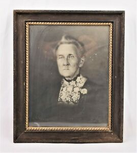 Antique Victorian Wood And Gold Gilt Gesso Picture Frame Fits 9 25 X 7 25