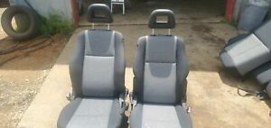 Front Bucket Seats 2010 Dodge Calliber Black And Grey Cloth Be Great For Hot Rod