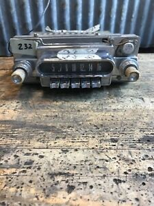 232 Vtg 1960 63 Ford Mercury Comet Push Button Car Radio Hot Rat Rod