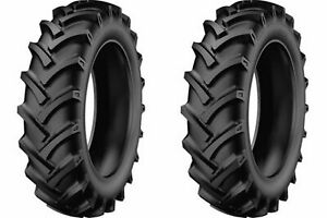 Two 5 00 12 R 1 Lug Compact tractor Tires Heavy Duty 6 Ply Rated W Tubes K 9