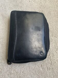 Franklin Quest Covey Planner Binder Classic Size Full Grain Nappa Leather Black
