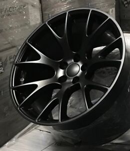 Fits 2 20 10 5 Hellcat Style Wheels Satin Black For Charger Challenger 300 Srt