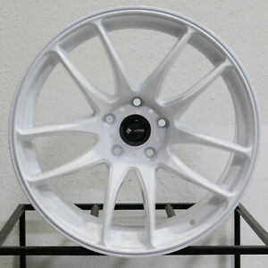 4 New 18 Vors Tr4 Wheels 18x9 5 5x120 22 White Rims