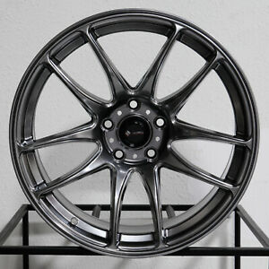 4 New 18 Vors Tr4 Wheels 18x9 5 5x114 3 22 Hyper Black Rims