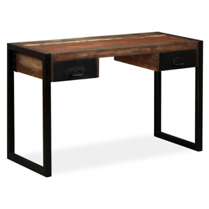 Vidaxl Desk With 2 Drawers Solid Reclaimed Wood 47 2 Study Table Workstation