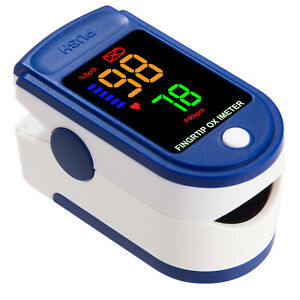 Usa Fingertip Pulse Oximeter Rechargeable Blood Oxygen Heart Rate Monitor Spo2