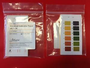 Universal Ph Indicator Ph 1 14 Pack Of 100 Paper Strips Made In The Uk