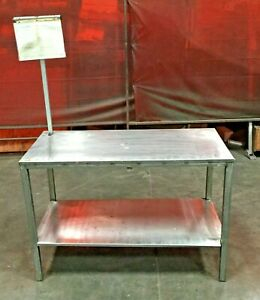 Stainless Steel Industrial Commercial Work Table 46 3 4 l X 24 w X 32 h
