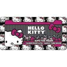 New Hello Kitty Heads Auto Plastic License Plate Frame Universal Size Single