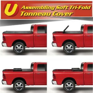 Assemble For 1997 2003 Ford F 150 6 5ft 78in Bed Soft Tri fold Tonneau Cover