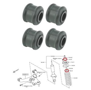 4 Front Shock Absorber Rubber Bushing For 2005 2014 Nissan Frontier Navara D40