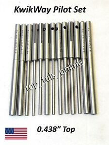 12 Pcs Kwikway Valve Guide Solid Type Pilots 0 438 Top