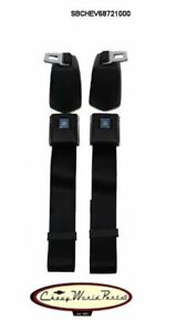 68 72 Chevelle oe Style Front Seat Belt Kit gm Buckle Retractor Kit
