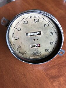 Vintage Antique Ford Car Truck Dash Speedometer No Cover Manual Dial Works