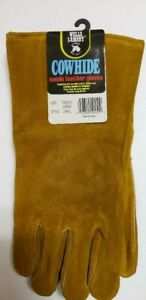 Wells Lamont Suede Leather Work Gloves Size Large