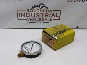 Enerpac 400il 30 0hg 4 face 1 4 npt Lower Mounted Gauge