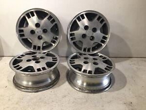 1983 1985 Honda Prelude 13 X5 13 5 Spoke Slotted Alloy Wheel Set Wheels Rims