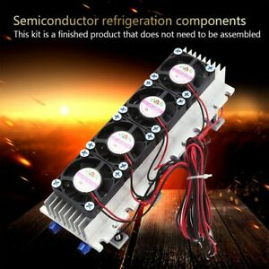 12v 4 Chip Tec1 12706 Thermoelectric Peltier Air Radiator Refrigeration Cooler z