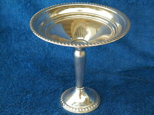 Aetna Weighted Sterling Silver 5 Tall Compote