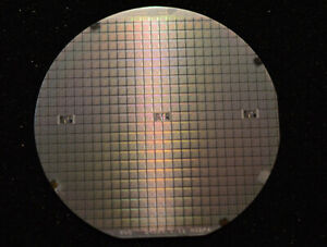 Vintage 1980s 4 Silicon Wafer 6512 Cpu 6502 Cpu With Ext Clock