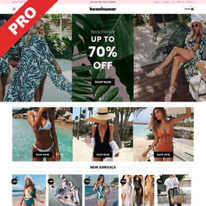 Swimwear Store Premium Dropshipping Website Turnkey Business For Sale