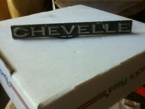 Vintage Chevy Chevrolet Chevelle Name Badge Script Plaque Decor